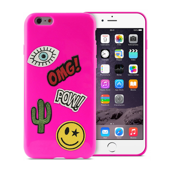 9ba693c9a19 Cover for iPhone 6/6S PURO Patch Mania + 5 Pateche IPC647PM1PNK pink