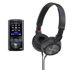 Sony NWZE384 Portable media player with stereo headphones MDR-ZX300