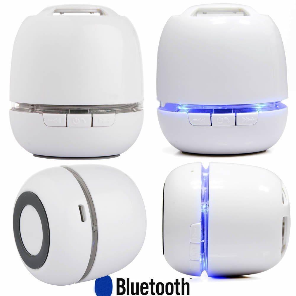 Portable Wireless Stereo Super Bass Super Mini Bluetooth Speaker White