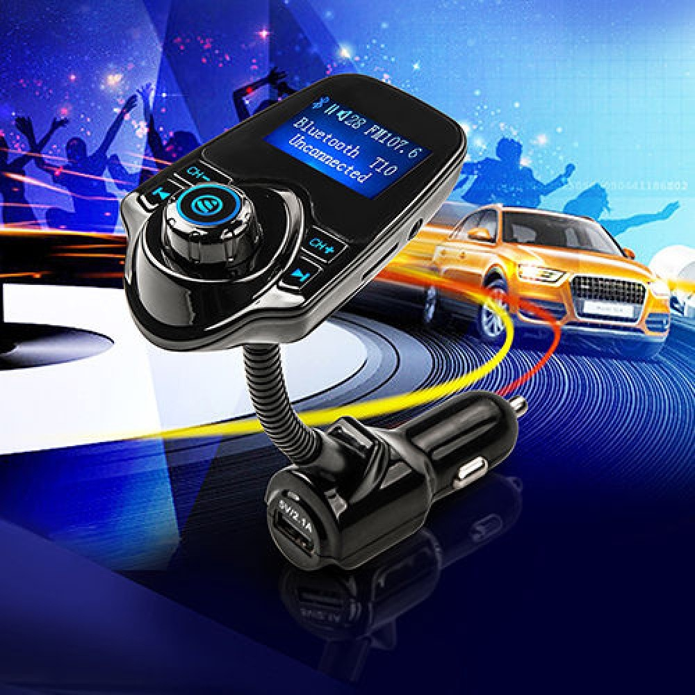 T10 Car Kit Handsfree Wireless Bluetooth FM Transmitter MP3 Player USB LCD Modulator