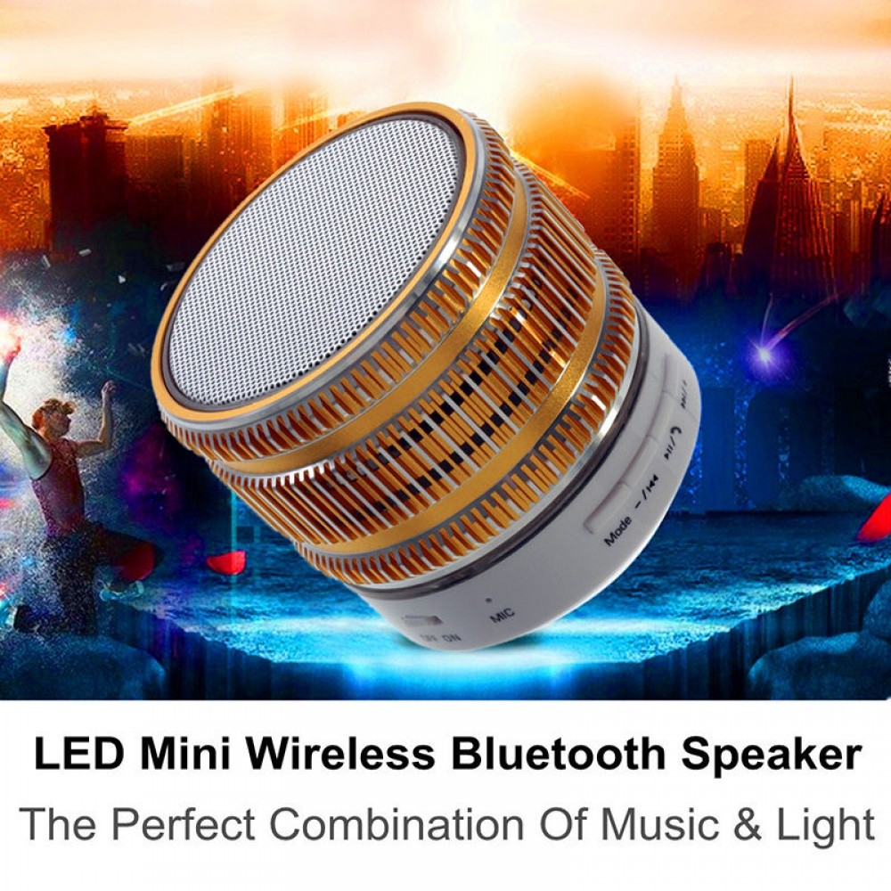Portable Wireless Bluetooth Stereo Mini Speaker Super Bass for Phone Tablet Gold