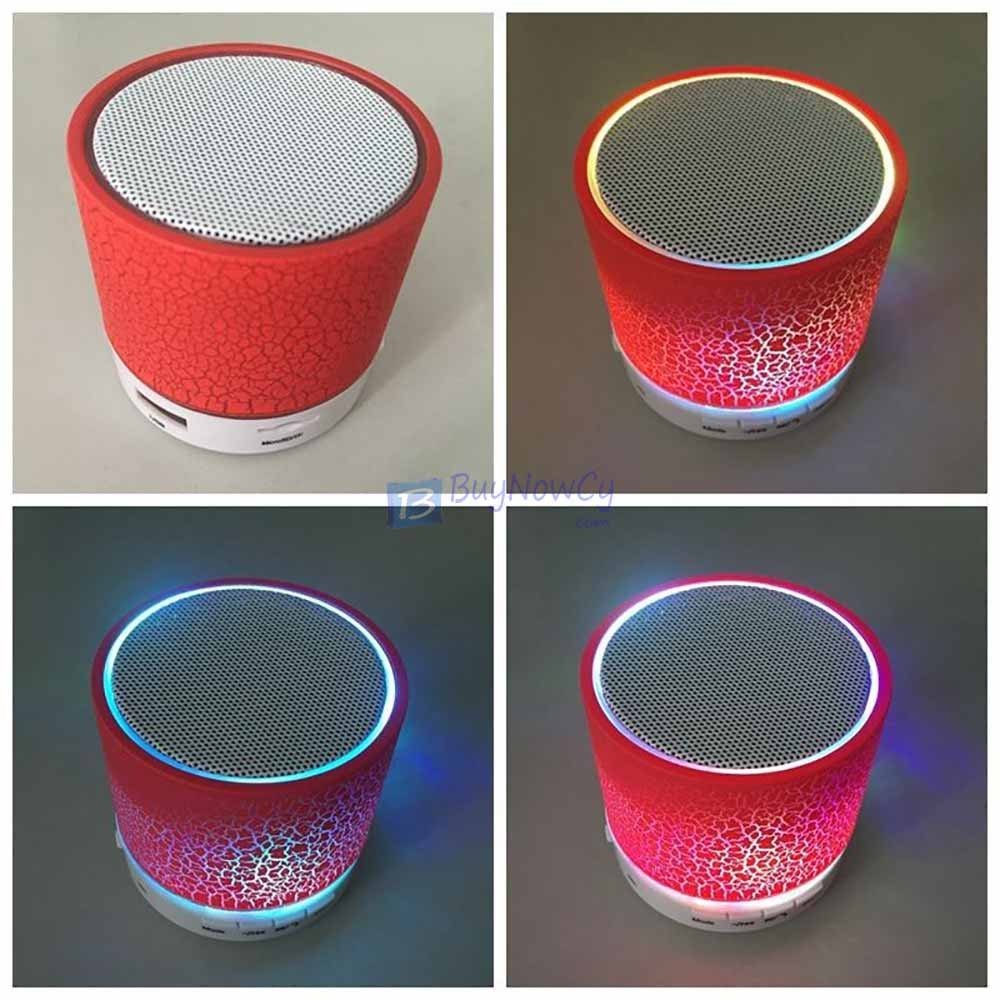 Wireless mini bluetooth speaker for smartPhones tablets Mosaic Red