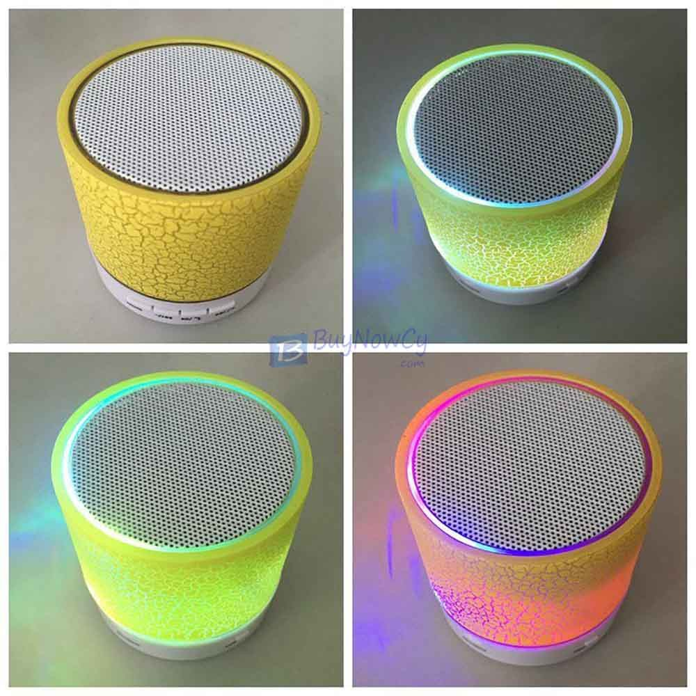 Bluetooth Wireless FM Stereo Mini Speaker For SmartPhone Tablet Mosaic Yellow