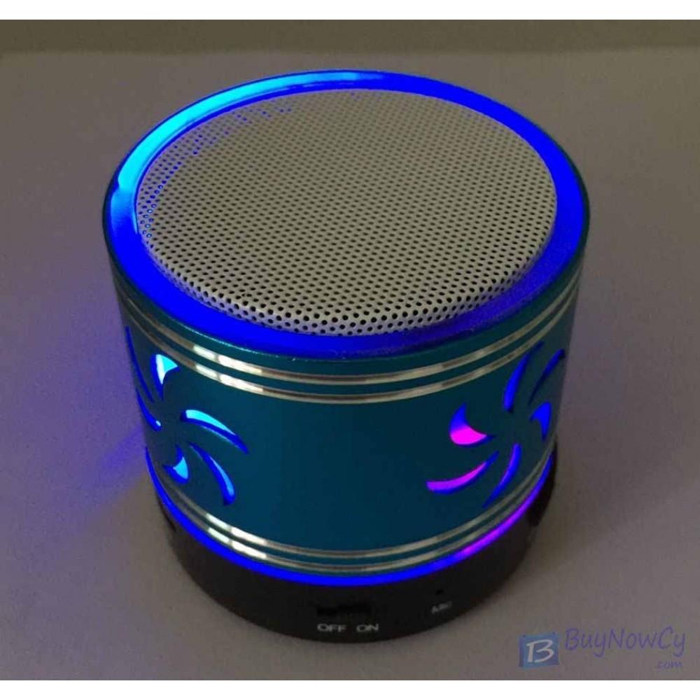 Bluetooth Wireless FM Stereo Mini Speaker For SmartPhone Tablet propeller Blue
