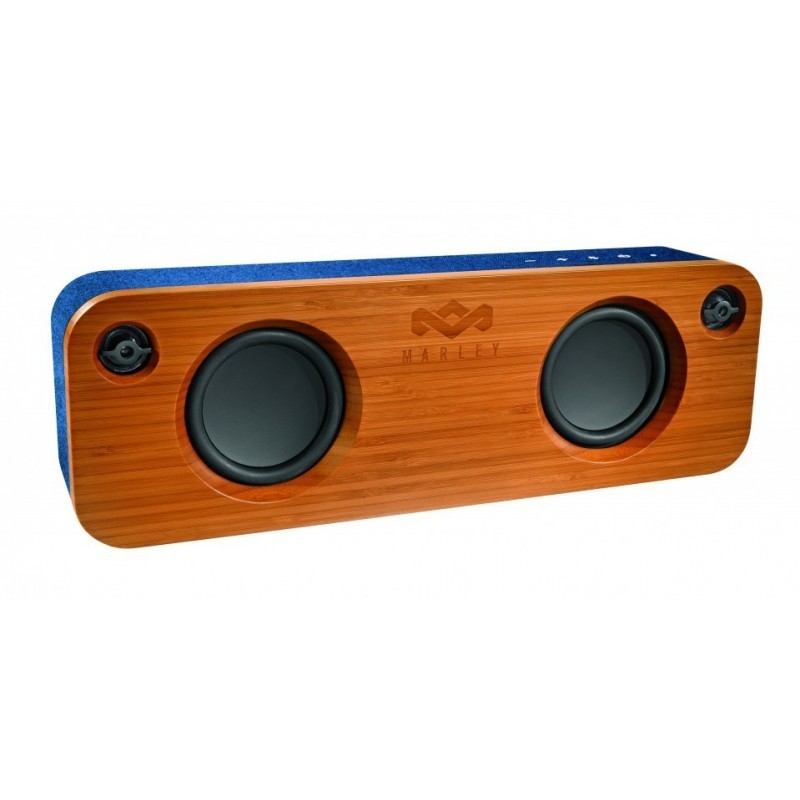 The House Of Marley Get Together Bluetooth Speaker Blue Wood