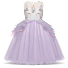 b7a7cb1f64 Girl Dress for event white - fuchsia
