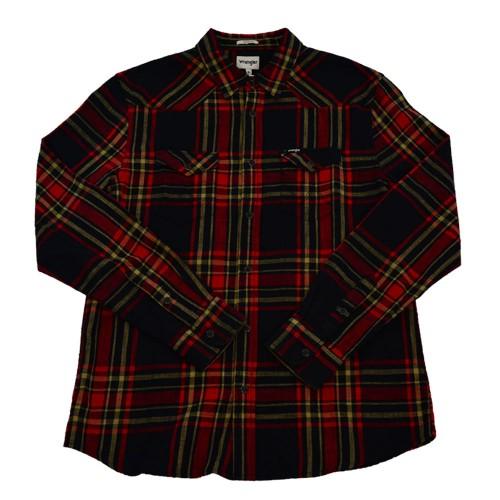 7dc657437238 Wrangler Shirt Western Ανδρικό - Μαύρο - Κόκκινο (W5973N6WN)